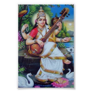 mA-saraswati Póster