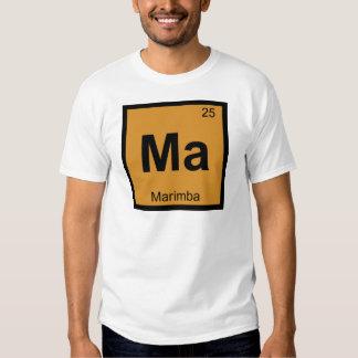 MA - Símbolo de la tabla periódica de la química Poleras