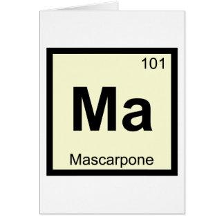 MA - Símbolo de la tabla periódica de la química Tarjeta De Felicitación
