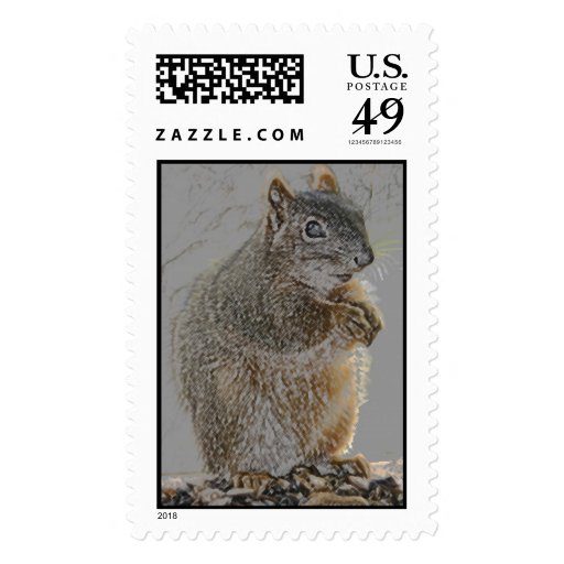 Ma Squirrel Postage Stamp