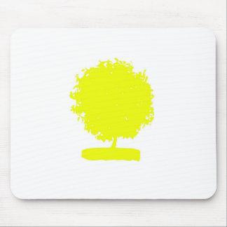 MaA006 Yellow Tree Mouse Pad