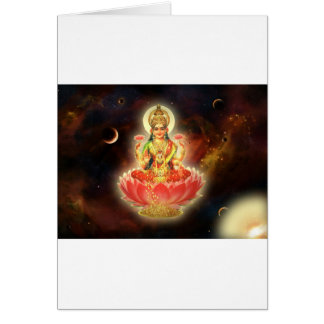 Maa Maha Lakshmi Devi Laxmi Goddess of Wealth Card