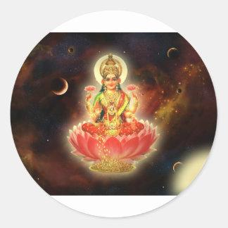 Maa Maha Lakshmi Devi Laxmi Goddess of Wealth Classic Round Sticker