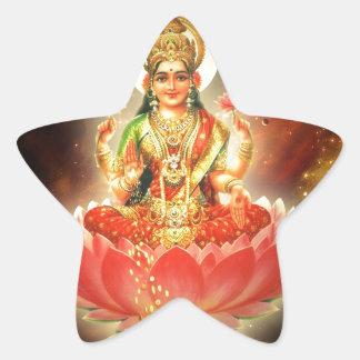 Maa Maha Lakshmi Devi Laxmi Goddess of Wealth Star Sticker