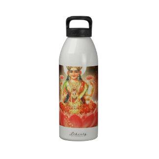 Maa Maha Lakshmi Devi Laxmi Goddess of Wealth Drinking Bottles
