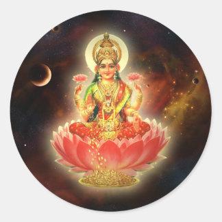 MAA MAHALAXMI DEVI INDIAN GODDESS OF WEALTH/ FORTU STICKER