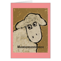 Maaaaaaaaaaaaaa  sheep mother's day card