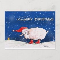 Määähry Christmas Holiday Postcard