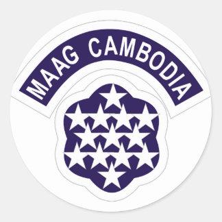 MAAG Camboida Pegatina Redonda