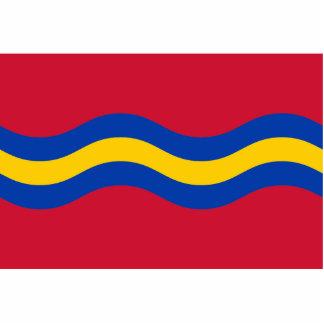 Maarssen, bandera holandesa fotoescultura vertical