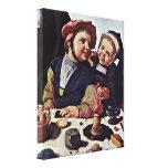 Maarten van Heemskerck - niños que cacarean Impresión En Lona