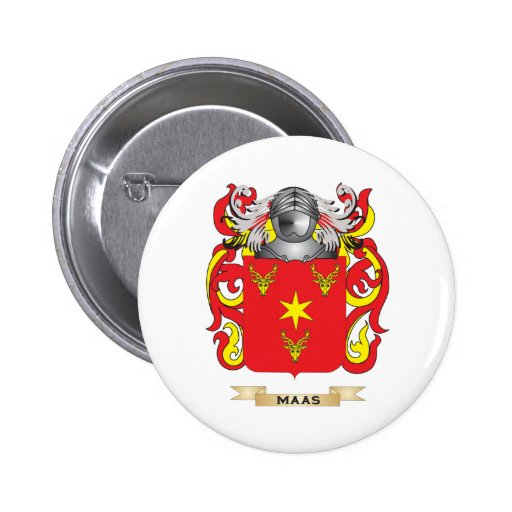 Maas Coat of Arms (Family Crest) 2 Inch Round Button