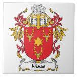 Maas Family Crest Ceramic Tiles