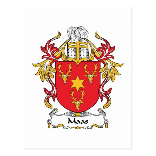 Maas Family Crest Postcards