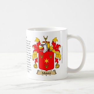 Maas the Origin the Meaning and the Crest Mug