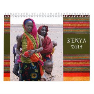 Maasai and Gabbra Tribes of Kenya Calendar 2014