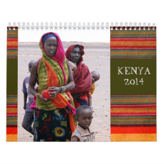 Maasai and Gabbra Tribes of Kenya Calendar 2014