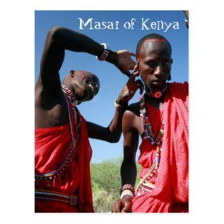 Maasai Groom Gets Ready for his Wedding in Kenya Postcard