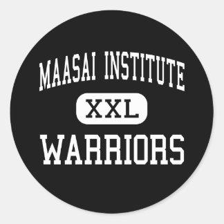 Maasai Institute - Warriors - High - Milwaukee Classic Round Sticker