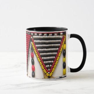 Maasai Tribal Beadwork Mug