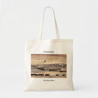 Maasai Village Tote Bag