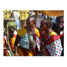 Maasai Women Postcard at Zazzle