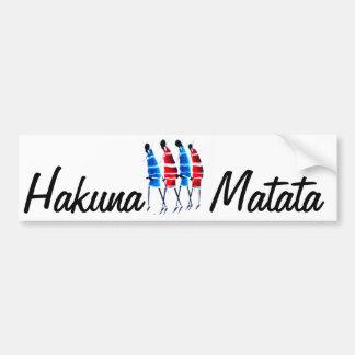Maasai Worriors Hakunamatata Customize Product Car Bumper Sticker