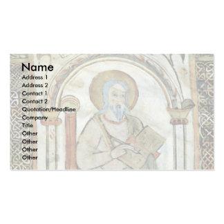 Maaseik Gospel Book Evangelist By Meister Der Schu Business Card Template