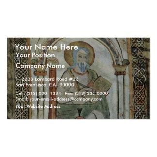 Maaseik Gospel Book Evangelist By Meister Der Schu Business Card