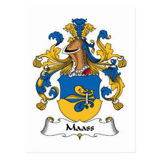 Maass Family Crest Post Cards