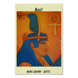MAAT - EGYPTIAN GODDESS PRINT