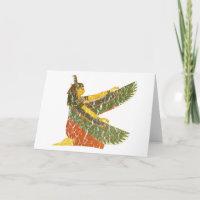 Maat kneeling card
