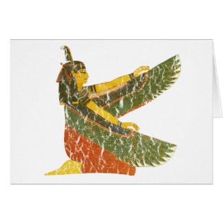 Maat kneeling greeting card