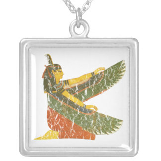 Maat kneeling silver plated necklace