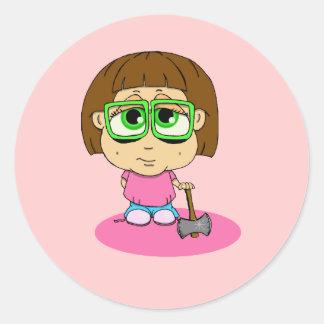 Mabel inestable pegatina redonda