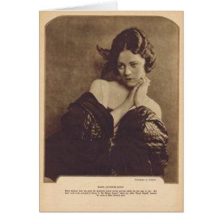Mabel Julienne Scott 1922 vintage portrait Card