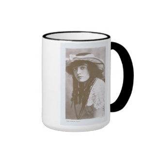 Mabel Normand 1915 Taza A Dos Colores