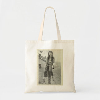 Mabel Normand 1917 production press image Tote Bag