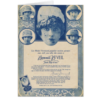 Mabel Normand 1918 Veil  Advertisement Card