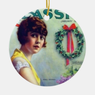 Mabel Normand Christmas Magazine cover Ceramic Ornament