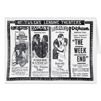 Mabel Normand Milton Sills 1920 movie theater ads Card