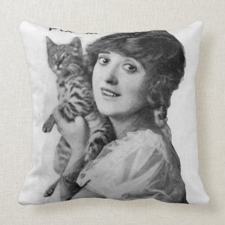 Mabel Normand Throw Pillow