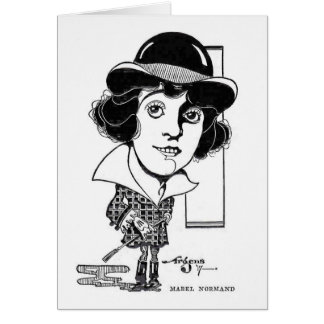 Mabel Normand vintage caricature Card