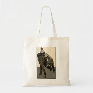 Mabel Taliaferro Elephant Riding Vintage Tote Bag