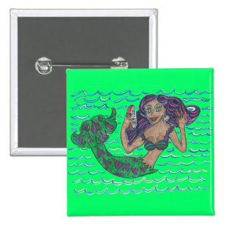 Mabel The Mermaid Button
