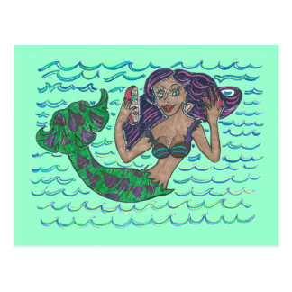 Mabel The Mermaid Postcard