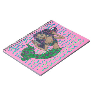 Mabel The Mermaid Spiral Notebook