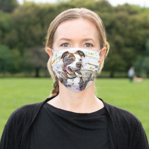 Mabel the Pitbull Cloth Face Mask