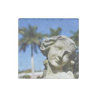 Mabel's Garden Stone Magnet