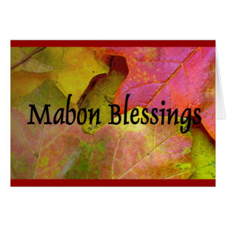 Mabon - Autumn Equinox Greeting Card